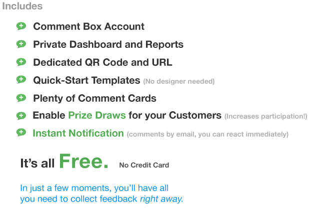 Comment Box Account Features