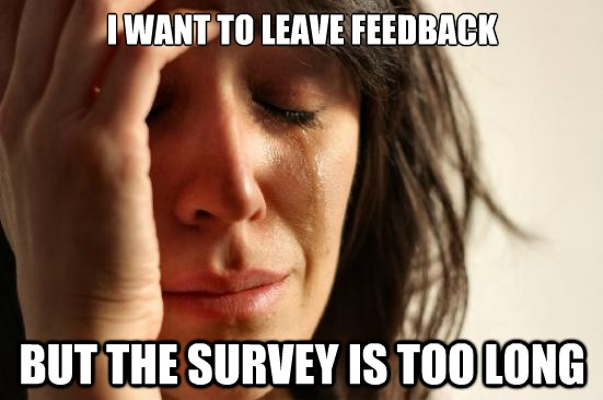By head hurts thinking about long surveys